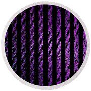Computer Generated Magenta Abstract Fractal Flame Black Backgroud Round Beach Towel