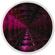 Computer Space Image Round Beach Towel