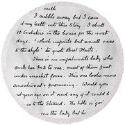 Conan Doyle: Letter Round Beach Towel