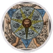 Concerning The Philosophical Stone, 1678 Round Beach Towel