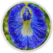 Conch Flower Round Beach Towel