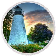 Concord Point Lighthouse 2 Round Beach Towel