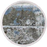 Concrete Blue 1 Round Beach Towel