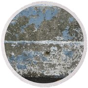 Concrete Blue 2 Round Beach Towel