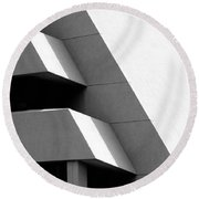 Concretely Abstract View Round Beach Towel