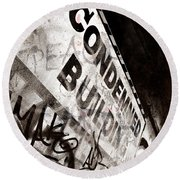 Condemned Building Round Beach Towel