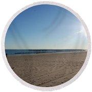 Coney Island Beach Round Beach Towel