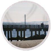 Coney Island Coast Round Beach Towel