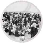 Coney Island New York - 1912 Round Beach Towel