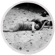 Coney Island: Sleeping Round Beach Towel