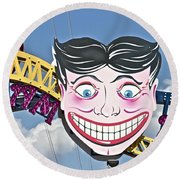 Coney Joker Round Beach Towel