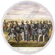 Confederate Generals Round Beach Towel