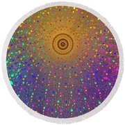 Confetti Shower Round Beach Towel