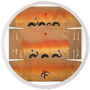 Conflagration Round Beach Towel