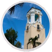 Congregational Church Of Coral Gables Round Beach Towel