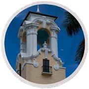 Congregational Church Tower Round Beach Towel