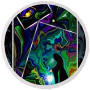 Conjurer Of Dreams And Delusions Round Beach Towel