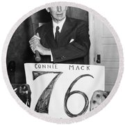 Connie Mack (1862-1956) Round Beach Towel