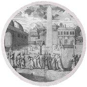 Constantinople, 1727 Round Beach Towel