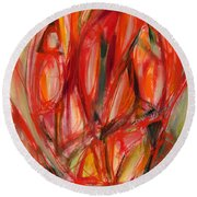 Contemporary Painting Three Round Beach Towel