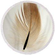 Contour Feather Round Beach Towel
