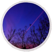 Contrail Contrast Round Beach Towel