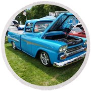 Cool Blues Classic Truck Round Beach Towel