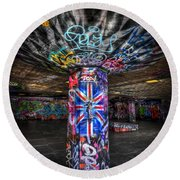 Cool Brittania Round Beach Towel