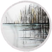 Cool Day Round Beach Towel