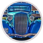 Cool Front End Hdr Round Beach Towel