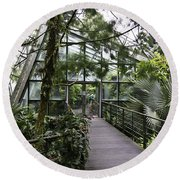 Cool House Inside The National Orchid Garden In Singapore Round Beach Towel
