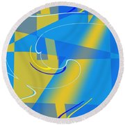 Coolbluelines Round Beach Towel