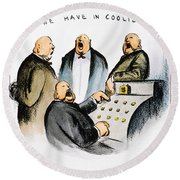 Coolidge: Cash Register Round Beach Towel