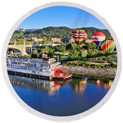 Coolidge Park During River Rocks Round Beach Towel