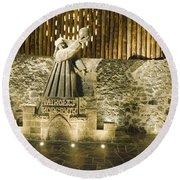 Copernicus - Wieliczka Salt Mine Round Beach Towel