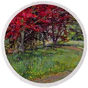 Copper Beeches New Timber Sussex Round Beach Towel