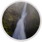 Copper Creek Falls Round Beach Towel