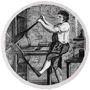 Copper Plate Printer, 1807 Round Beach Towel