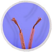 Copper Wire Round Beach Towel
