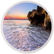 Coquillage Round Beach Towel