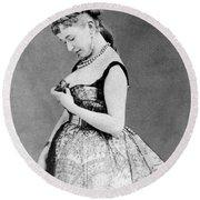 Cora Pearl (c1835-1886) Round Beach Towel