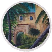 Coral Gables Round Beach Towel