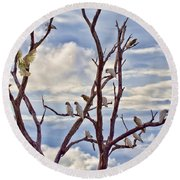 Corella Tree Round Beach Towel