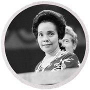 Coretta Scott King Round Beach Towel