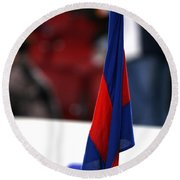 Corner Flag Of Camp Nou Round Beach Towel