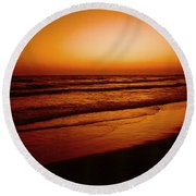 Corona Del Mar Round Beach Towel