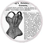 Corset Advertisement, 1895 Round Beach Towel