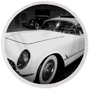Corvette 55 Convertible Round Beach Towel