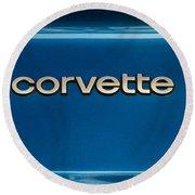 Corvette Badge Round Beach Towel