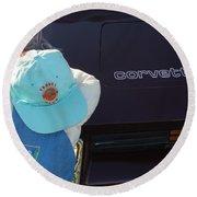 Corvette Crier Round Beach Towel